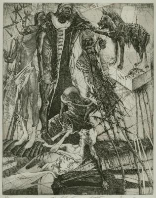 Alexander Nikolayevich Steshenko. Virgil. Illustration to Dante's divine Comedie