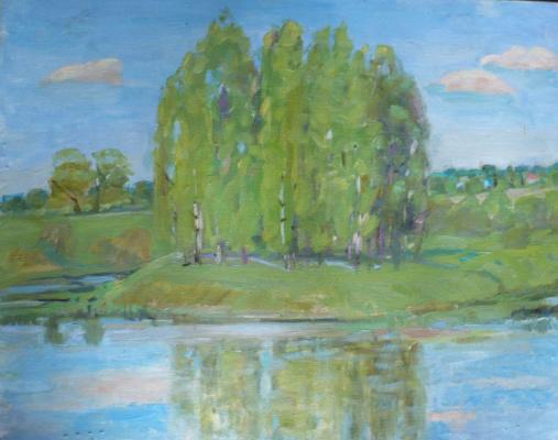 Elena kuvina. На берегу  реки Клязьмы.