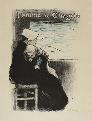 Theophile-Alexander Steinlen. Sad woman