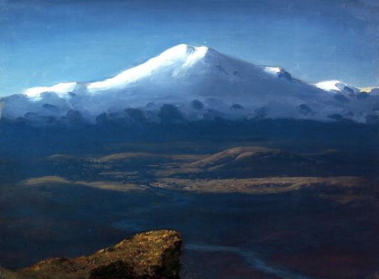 Arkhip Ivanovich Kuindzhi. Snow-capped peaks. Elbrus