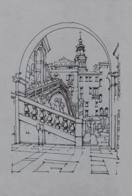 Sergey Vyacheslavovich Kravchenko. Rialto from the arch