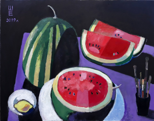 Elena Valeryevna Shipilova. Evening Watermelon 2