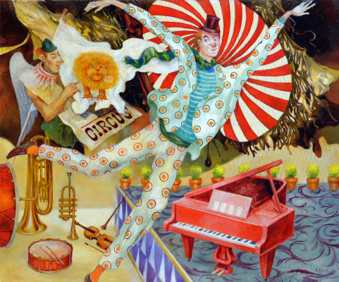 Vladimir (Vladimir) Mikhailovich Ryklin (Ryklin). Circus and Red Piano