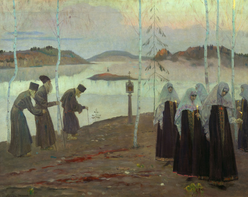 Mikhail Vasilyevich Nesterov. The founding fathers of the desert fathers and wife chaste