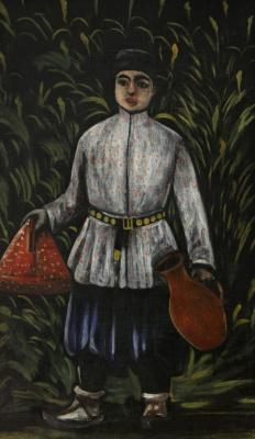 Niko Pirosmani (Pirosmanashvili). A boy carries a lunch