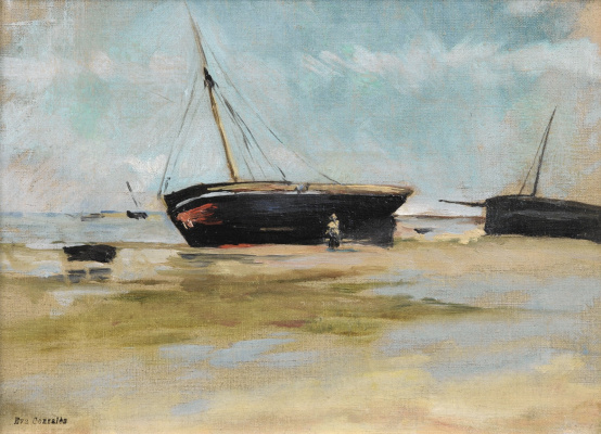 Eva Gonzalez. Boat at low tide