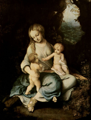 Antonio Correggio. Madonna with John the Baptist