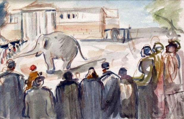 Александр Аркадьевич Лабас. Слон в зоопарке