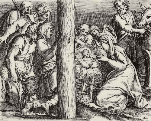 Annibale Carracci. The adoration of the shepherds