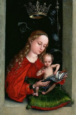 Мартин Шонгауэр. Мадонна с Младенцем в окне