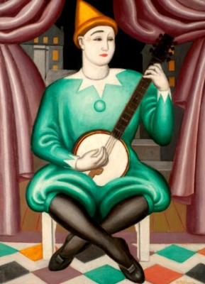 Jean Metzinger. Clown with banjo