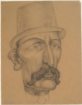 Диего Мария Ривера. Портрет мужчины с усами