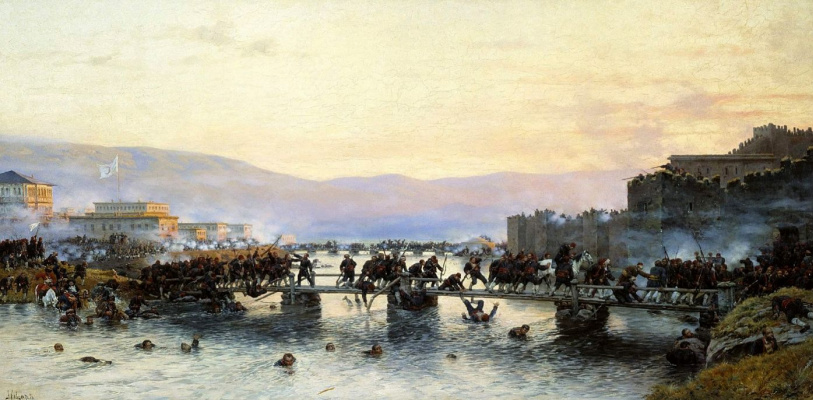 Alexey Danilovich Kivshenko. The storming of the fortress of Ardahan may 5, 1877