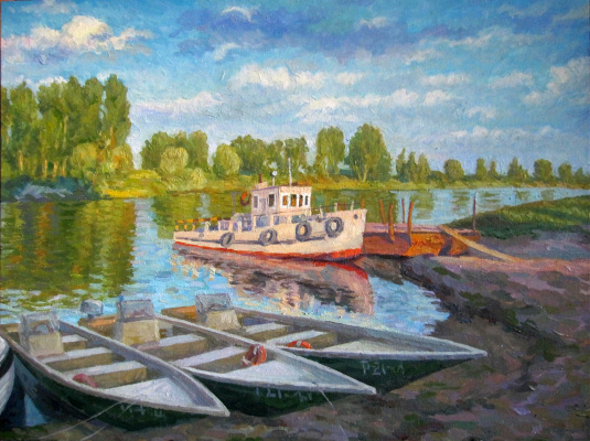 Yuri Davydov. Evening at the Volga Delta