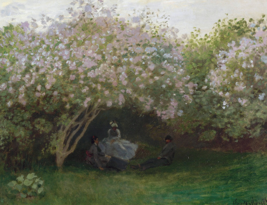 Claude Monet. Lilacs, gray weather