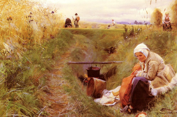 Anders Zorn. Our daily bread