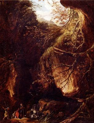 Хьюберт Роберт. Лесной пейзаж