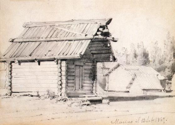 Luigi Premazzi. The barn and outbuildings in Murino