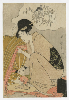 Kitagawa Utamaro. Bringing in the nightmare of a child