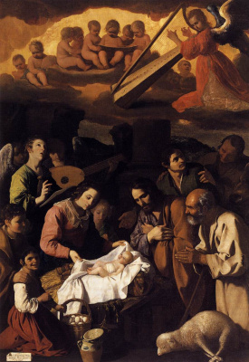 Francisco de Zurbaran. The adoration of the shepherds