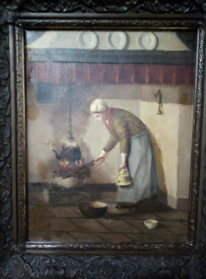 """Woman and the hearth"""