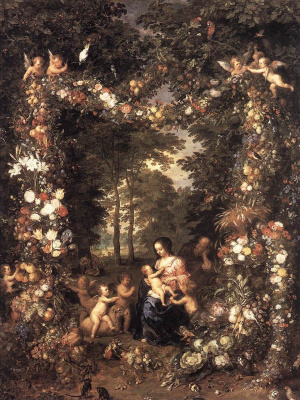 Jan Bruegel The Elder. Holy family