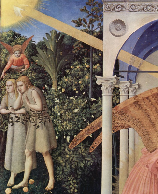Fra Angelico. The expulsion of Adam and eve from Paradise a Fragment of an altar of the Annunciation of Mary