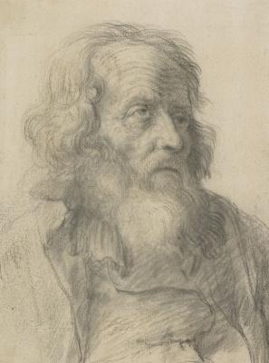 Jan Lievens. Portrait of a bearded old man