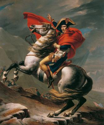 Jacques-Louis David. Napoleon at the pass Saint-Bernard IV