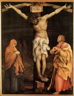 Маттиас Грюневальд. Распятый Христос