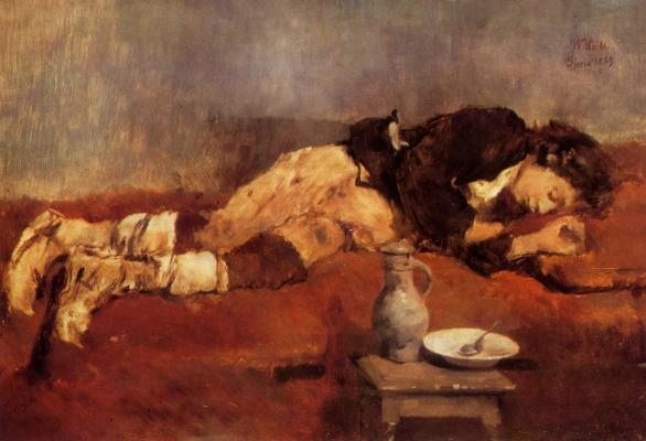 Ханс фон Маре. Спящий маленький савояр