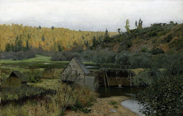 Isaac Levitan. Autumn. Mill. Ples