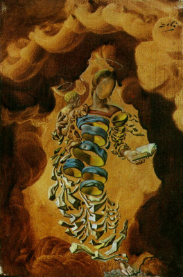 Salvador Dali. Madonna in particles