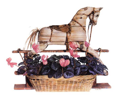 Nancy Noel. Toy horse-rocking chair