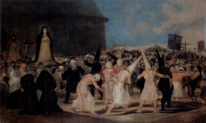 Francisco Goya. Procession of flagellants (bicaudata)