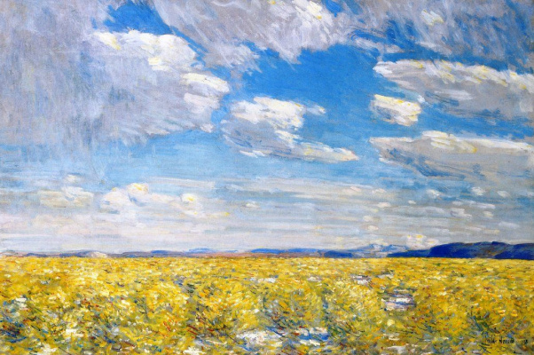 Childe Hassam. The sky after lunch, Harney Deset
