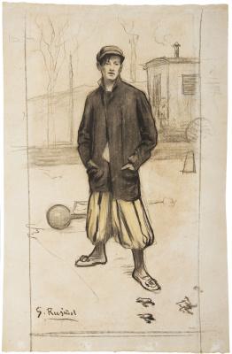 Santiago Rusignol. Portrait of Alfredo Sainati