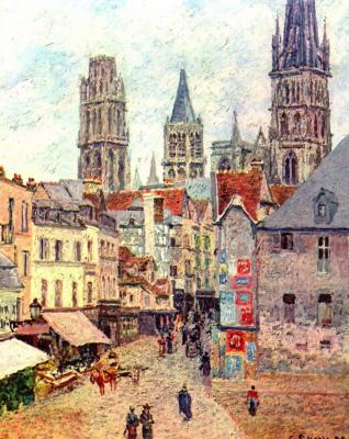 Camille Pissarro. Street in Rouen