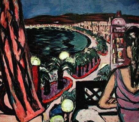 Max Beckmann. Promenade des Anglais in nice