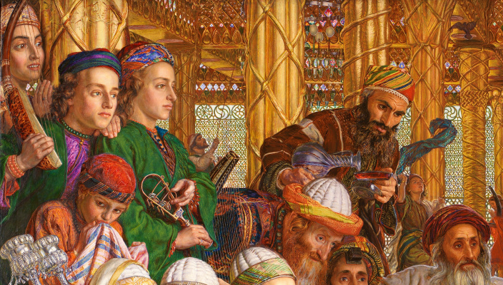 William Holman Hunt. The finding of the Saviour in the temple. Fragment VII