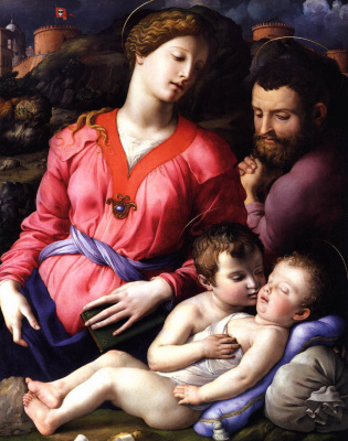 Agnolo Bronzino. Holy family