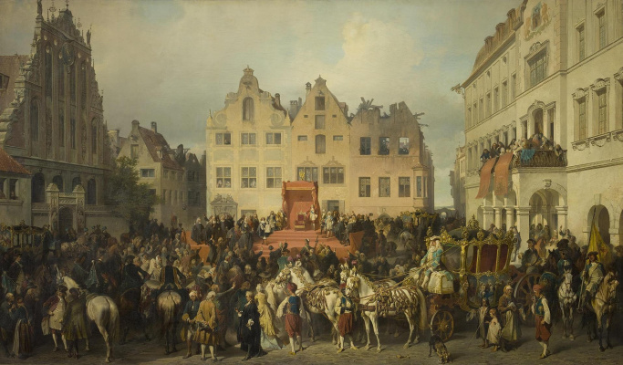 Alexander Evstafievich Kotzebue. Oath of Riga to the citizenship of Russia in 1710.