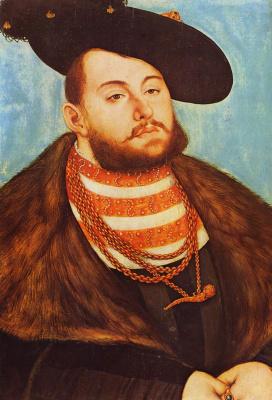 Lucas Cranes the Elder. Portrait of John Frederick, elector of Saxony
