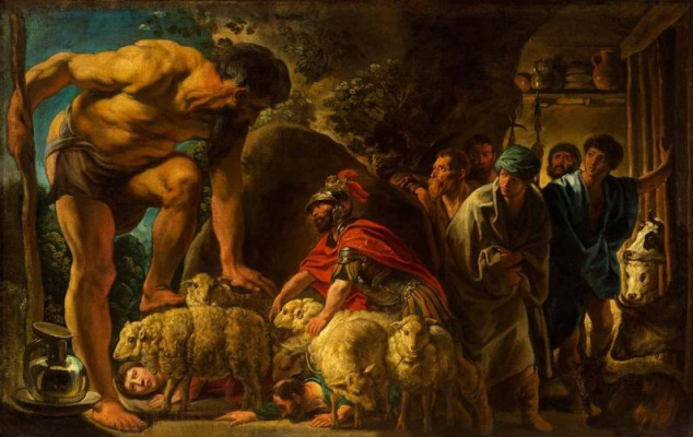 Odysseus in the cave of Polyphemus
