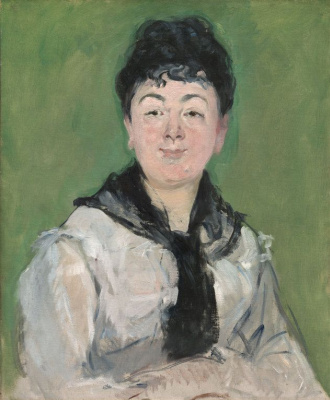 Edouard Manet. Portrait of a lady with a black scarf