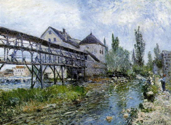 Alfred Sisley. Mill Provence in Moreh