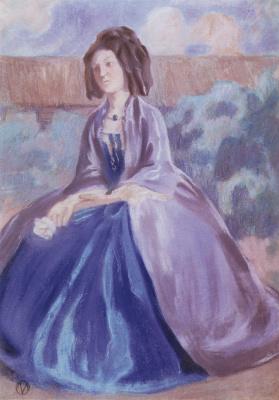 Виктор Эльпидифорович Борисов-Мусатов. Дама в кринолине. 1903