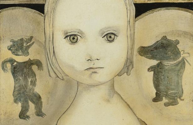 Цугухару Фудзита ( Леонар Фужита ). Портрет девочки с тарелками