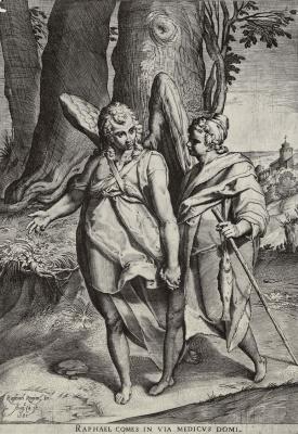Агостино Карраччи. Товия с ангелом