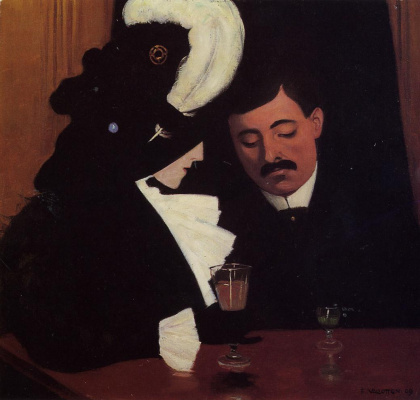 Felix Vallotton. In a cafe
